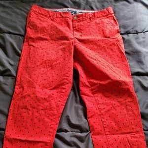 size 12 Tommy Hilfiger red blue polka dot jeans